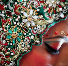 Indian Wedding Dress Detail by Shroko♥, via Flickr