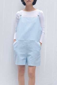 a321b9233b2 Baserange Short Strap Overall - Detian Blue