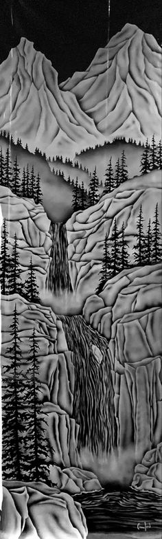 Etched Glass, Glass Etching, Vancouver Island, British Columbia, West Coast, Custom Design, Carving, World, Interior