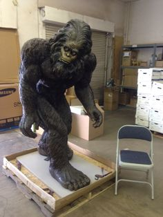 The 6' Yeti was in the giant box. Now available at SkyMall.com.