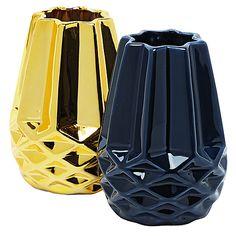 Scandi Prism Ceramic Vase Assorted Colours x x Ceramic Vase, Colours, Ceramics, Red, Christmas, Ideas, Decor, Pottery Vase, Ceramica