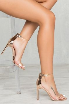 50$ Valletta Single Sole Heel (Rose Gold)