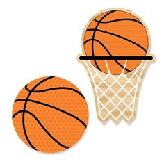Nothin' But Net - Basketball - Shaped Party Paper Cut-Outs | BigDotOfHappiness.com