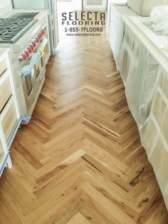 Selecta Flooring LLC went seaside for this install and finishing job. This herringbone parquet is stained with Rubio Monocoat Pure Natural Oil.