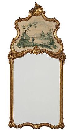 Italian Rococo-style Trumeau Mirror