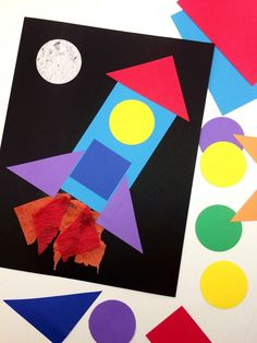 Shapes & Colors Craft Activity: Build Your Own Spaceship! Shapes & Colors Craft Activity: Build Your Own Spaceship! Animal Crafts For Kids, Summer Crafts For Kids, Craft Activities For Kids, Kids Crafts, Outer Space Crafts For Kids, Craft Ideas, Toddler Paper Crafts, Paper Craft For Kids, Easy Crafts For Toddlers