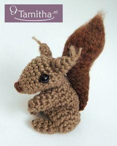 Tamigurumi: Eekhoorn gratis haakpatroon!   Squirrel free crochet pattern!