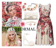 """""""Floral Spring"""" by artasshine ❤ liked on Polyvore featuring RED Valentino, Phase Eight, Nly Shoes, Sonix and Michael Kors"""