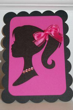 Items similar to Barbie Silhouette Invitation on Etsy. , via Etsy.