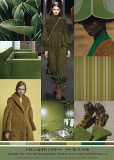 FASHION VIGNETTE: TREND | TRENDSENSES -  GROUNDED GREENS . FW 2019 -...