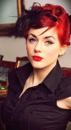 retro makeup & pincurls