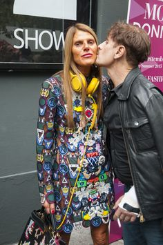 Milan Female Fashion Week SS15 - Anna Dello Russo @ DSQUARED2 show #mfw #milanfashionweek #dsquared2 #outfitideas