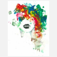 Black Lips Print 24x32 now featured on Fab.