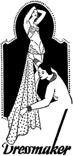 Cute Vintage Dressmaker Sign Image! - The Graphics Fairy