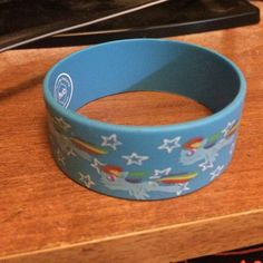 Rainbow dash bracelet Wide rubber bracelet Hot Topic Jewelry Bracelets