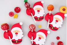 Christmas Decorations & Trees Christmas Paper Candy Chocolate Lollipop Sticks Cake Pops Xmas For Party & Garden Christmas Candy Gifts, Christmas Paper, Kids Christmas, Christmas Crafts, Christmas Decorations, Lollipop Craft, Paper Party Decorations, Lollipop Sticks, Fall Arts And Crafts