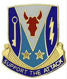 Special Troops Battalion, 34th Infantry Division Unit Crest (Support the Attack)