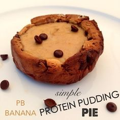 Clean Eating Peanut Butter Banana Chocolate Chip Protein Pie-- simple healthy recipe , Perfect Post Workout Snack!