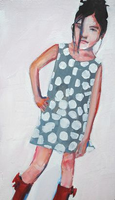 polka dots/ tiny portraits by ruthie ann, via Flickr