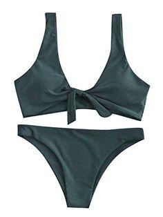 12ec20ed53 SweatyRocks Women s Sexy Bikini Swimsuit Tie Knot Front Swimwear Set -  https   ift