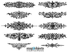 Floral Ornaments Vector Graphics Free Pack