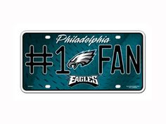NFL Philadelphia Eagles #1 Fan Metal Auto Tag