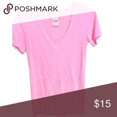 Victoria secret v cut shirt Victoria secret pink v cut t-shirt PINK Victoria's Secret Tops Tees - Short Sleeve