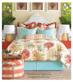 Swatch Set Paradise Cay Bedding and Drapery Collection $9  made to order fine bedding DesignNashville