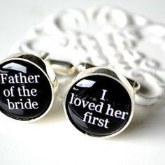 father's cufflinks.