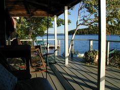 Porch at Taconnet on Great Pond  Belgrade Lakes, Maine  ...someday....