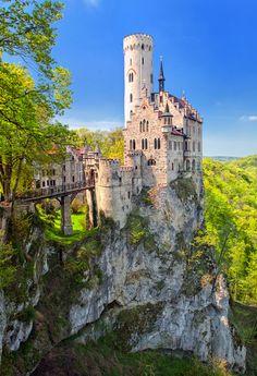 Lichtenstein castle. Swabia by Stuttgart, Germany