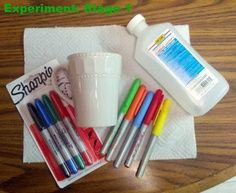 """""""I've been looking into this Sharpie mug 350 degrees craft and it looks as though many people have been experiencing fading or the colors coming off altogether. Therefore, I would like to share this blogger's page. She explains to the tee how she cooked her mug at 425 for 30 minutes and then left the mug to cool in the oven. The results: a permanent cup at last! — good because I did this once at 350 and the sharpie washed off!"""" 