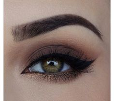 Matte plum and copper eyeshadow.