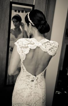 Lace Open Back Wedding gown Lace Back Wedding Dress, Wedding Gowns, Lace Wedding, Dream Wedding, Wedding Day, Dress Lace, Lace Dresses, Backless Wedding, Wedding Photos