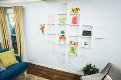 Brighten up any room with your children's artwork! @kennethwingard has a DIY to make it simple! Don't miss Home & Family weekdays at 10a/9c on Hallmark Channel!