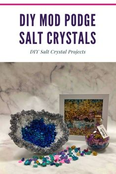 Make your own Rock Salt Crystals with your kids this summer! We created so many fun projects with the easy to make crystals. Diy Mod Podge, Mod Podge Crafts, Fun Diy Crafts, New Crafts, Crafts For Kids, Crystals For Kids, Diy Crystals, Diy Cloud, Growing Crystals