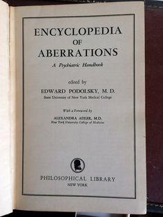 ABBERATIONS Vintage Book an AZ Encyclopedia 1950s Mid by defekto