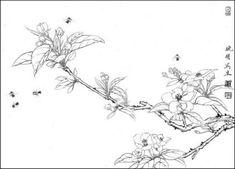 목단외 백묘 : 네이버 블로그 Korean Traditional, Traditional Art, Cherry Blossom, Flora, World, Drawings, Plant, Autumn, Embroidery