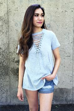 BROOKE LACE UP TOP