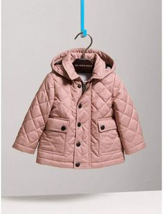 b58232827 Burberry Detachable Hood Quilted Jacket Burberry Jacket, Burberry Kids, Kid  Essentials, Designer Baby