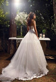 This is exactly what I always imagined the back of the WEDDING DRESS to be like