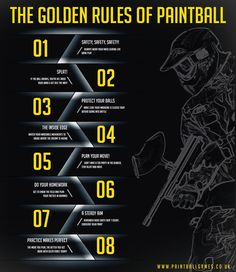 The Golden Rules of Paintball | Delta Force. #paintball