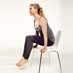 Scale Pose - These are effective moves you can do right at your desk, ones that will help you get a mental breather and make sure your neck, back, arms, hips and wrists remain in good working order. | Health.com