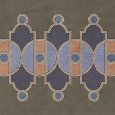 Art Deco Border Stencil Impression Set