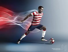 MauDesign Nike Soccer Action Mockup - Mockup Arena