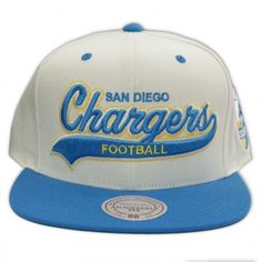 Mitchell Ness San Diego Chargers Snapback NFL Throwback Script Tail Sweeper 00ea42180