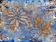 Water Lilies by Alexandra Romano, Mixed Media on Canvas https://alexandraromanoart.com/collections/abstract-expressionism/products/water-lilies-original-abstract-floral-texture-painting #abstract #art #painting #flowers #water #lilies #texture