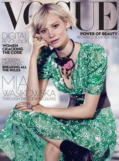 Mia Wasikowska - Vogue Australia July 2016