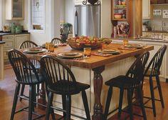 DeVos Custom Woodworking - Pecan Wood Countertop Photo Gallery