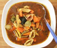 Chicken Soup Recipe with Pasta, Chicken Breast, Onion, Coriander, Chicken Stock, Tomato Paste. CLICK HERE to Discover the Recipe